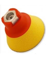 FLEXIPADS Talerz mocujący 75mm z rzepem, gwint M14, Soft-żółty - 10390