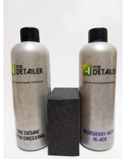 4Detailer Blueberry IRON Blade 500ml + Tire Desire Satin Dressing 500ml + aplikator