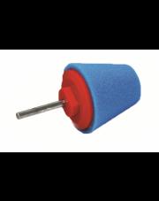 PA szyszka stożek polerski twardy 80mm niebieski