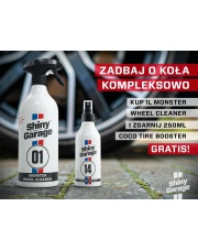 Shiny Garage Zestaw do kół MOnster Wheel Cleaner 1l + Coco Tire 250ml