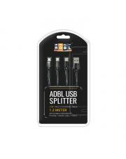 ADBL USB Splitter - KABEL USB Z 3 RÓŻNYMI KOŃCÓWKAMI