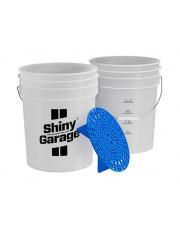 SHINY GARAGE Wiadro 20L z separatorem niebieski