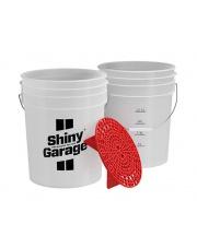 SHINY GARAGE Wiadro 20L z separatorem czerwony