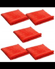 PA mikrofibra LASER POLISH czerwona 40x40 cm 5 SZTUK - IDEALNA DO WOSKÓW 2FACE